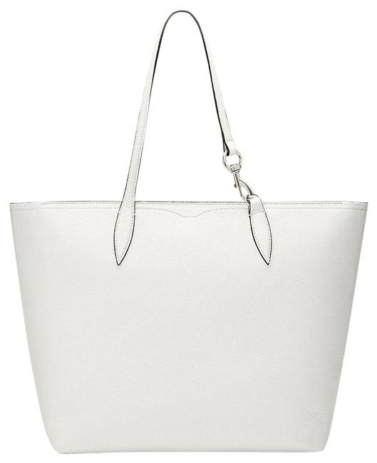 Item - Sherry Zip Closure Bianco/Green Leather Tote