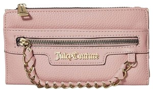 Juicy Couture Wallet Clutch Wristlet in blush gold