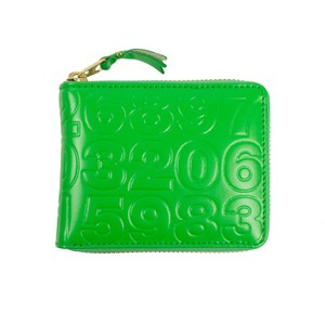 COMME des GARÇONS Leather Number Embossed Small Wallet