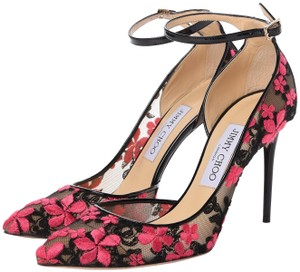 Jimmy Choo Floral Lace Date Night Hollywood black/pink Pumps
