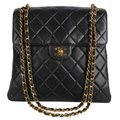 Chanel Double Face Quilted Lambskin Leather Vintage Shoulder Bag
