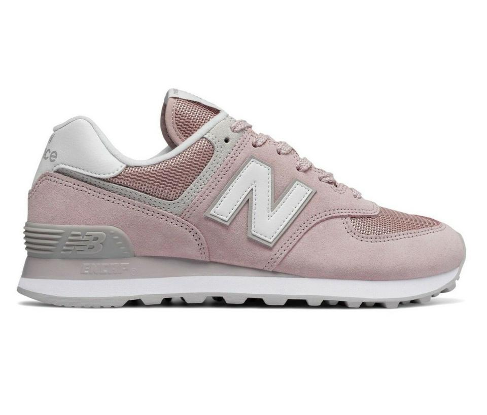 timeless design 4afe1 11786 New Balance Pink 574 Faded Suede Leather Encap Walking Sneakers Size US 7.5  Regular (M, B)
