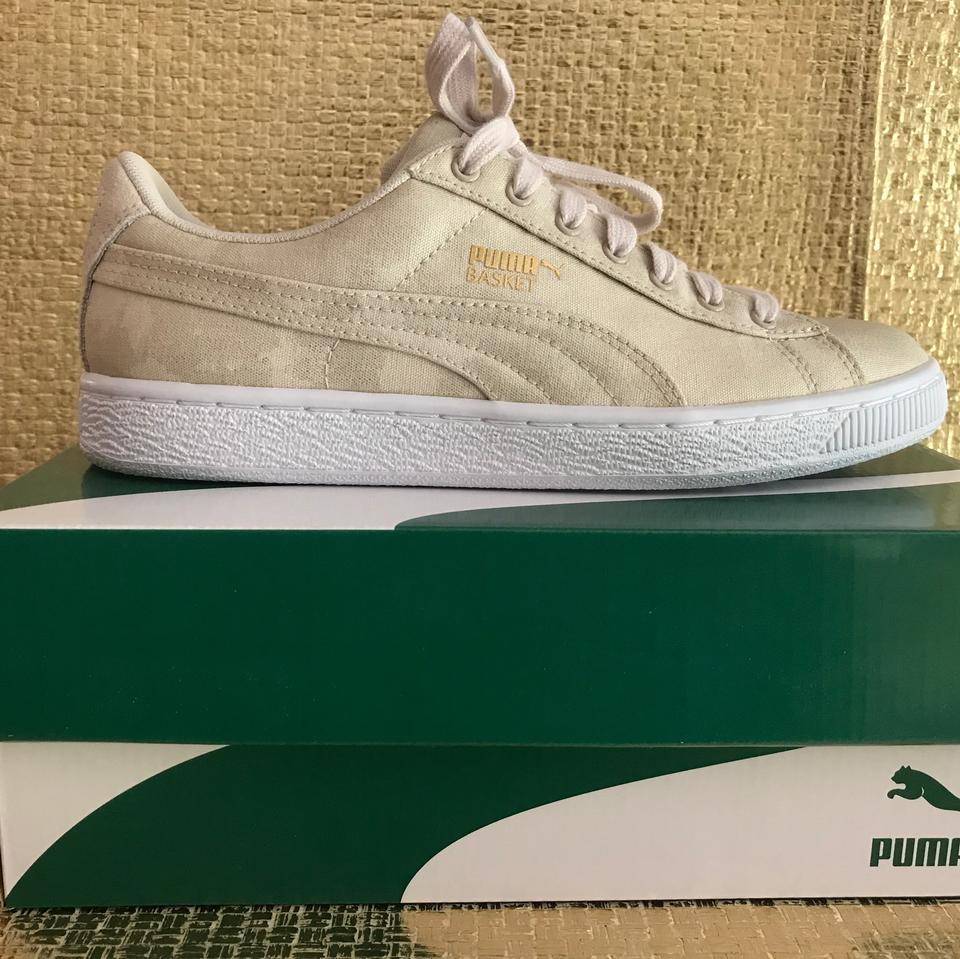 the best attitude 8c3e6 429b6 Puma Oatmeal(Beige) Basket Denim Wn's Sneakers Size US 7 Regular (M, B)
