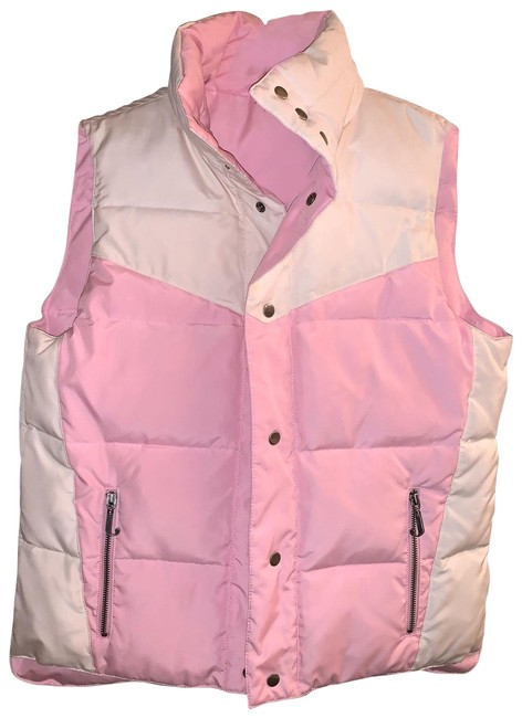 Juicy Couture Pink & White Reversible Puffer Vest Size 4 (S) Juicy Couture Pink & White Reversible Puffer Vest Size 4 (S) Image 1