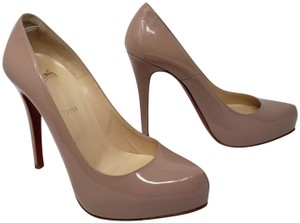 Christian Louboutin Rolando Pointed Toe Patent Leather So Kate Pigalle Beige Pumps