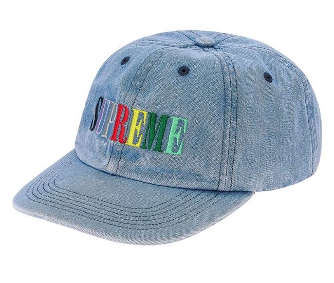 Item - Light Denim Multi Color Logo 6-panel Hat
