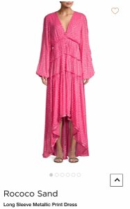 pink - fuchsia Maxi Dress by Rococo Sand
