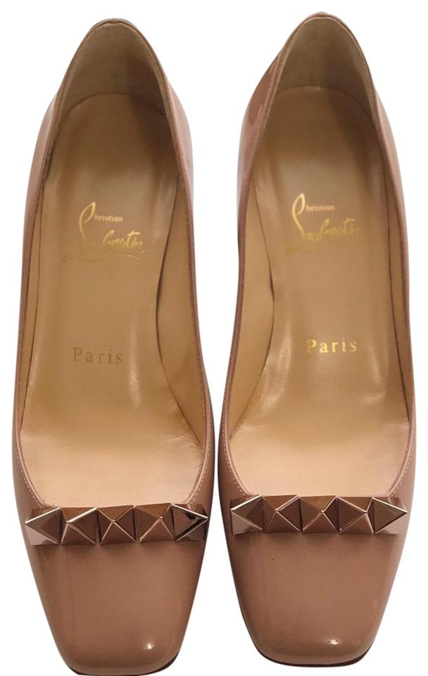 promo code 1be95 19a5b Christian Louboutin Nude Rose Gold Pyramidame 45 Pumps Size US 7.5 Narrow  (Aa, N) 30% off retail
