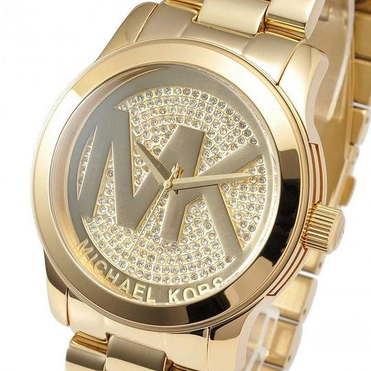 Michael Kors Runway Stainless Steel Pave Crystal Logo MK5706 Watch Image 3