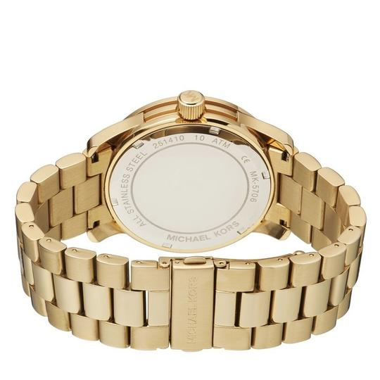Michael Kors Runway Stainless Steel Pave Crystal Logo MK5706 Watch Image 7