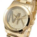 Michael Kors Runway Stainless Steel Pave Crystal Logo MK5706 Watch Image 8