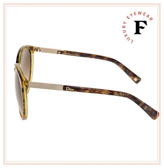 Dior Cat Eye Brown Marble Gold Sunglasses ENTRACTE 1FS Image 1