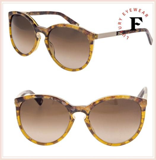 Dior Cat Eye Brown Marble Gold Sunglasses ENTRACTE 1FS Image 2