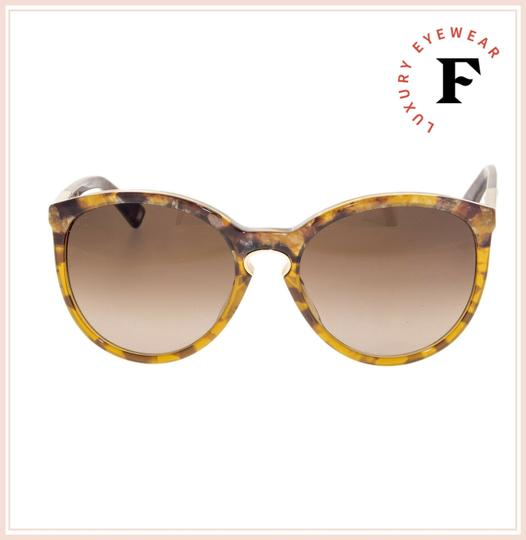 Dior Cat Eye Brown Marble Gold Sunglasses ENTRACTE 1FS Image 3