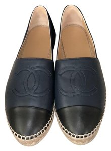 Chanel Navy blue and black Wedges