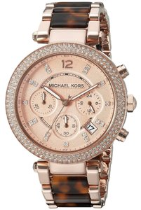 Michael Kors Parker Tortoise Acetate Stainless Steel Chronograph MK5538 Watch