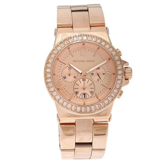 Michael Kors Dylan Stainless Steel Baguette Crystal Chronograph MK5412 Watch Image 4