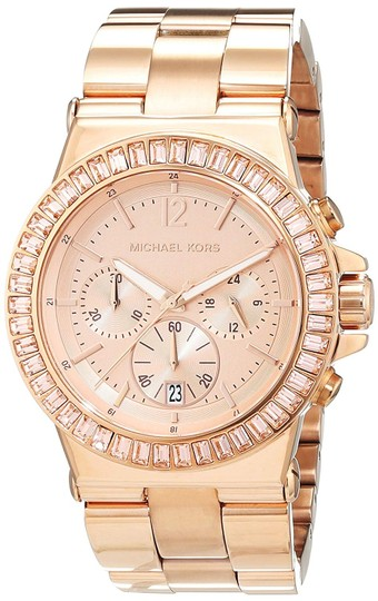 Michael Kors Dylan Stainless Steel Baguette Crystal Chronograph MK5412 Watch Image 5