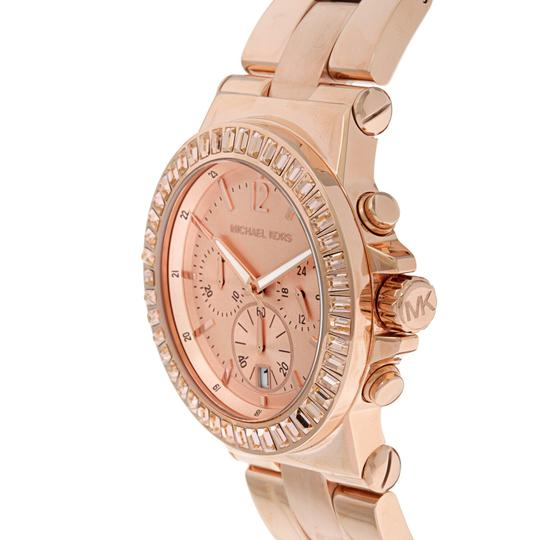 Michael Kors Dylan Stainless Steel Baguette Crystal Chronograph MK5412 Watch Image 6
