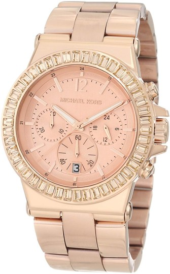 Michael Kors Dylan Stainless Steel Baguette Crystal Chronograph MK5412 Watch Image 9