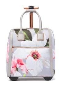 Ted Baker Polyester Carry On Suitcase Chatsworth Blossom Floral Mid Grey Travel Bag