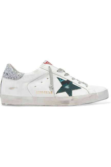 Item - Superstar Distressed Leather Sneakers Size EU 37 (Approx. US 7) Regular (M, B)