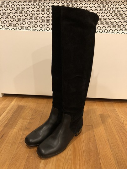 Gucci Black Suede and Leather Boots Image 2