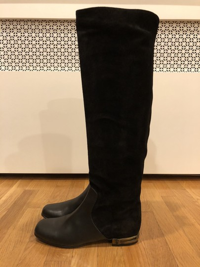 Gucci Black Suede and Leather Boots Image 3