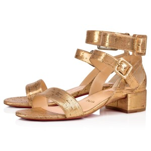 Christian Louboutin Pigalle Follies Stiletto Glitter Classic gold Sandals