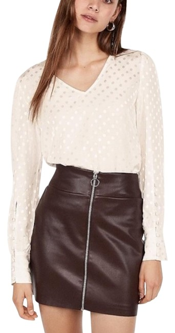 Item - Brown High Waisted Clean A-line Skirt Size 18 (XL, Plus 0x)