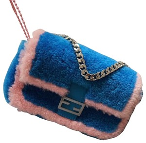 Fendi blue and pink Clutch