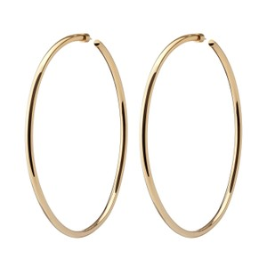 JENNIFER FISHER Jennifer Fisher Lilly Large Yellow Gold Plated Hoop Statement Earrings