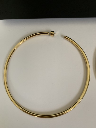 JENNIFER FISHER Jennifer Fisher Lilly Large Yellow Gold Plated Hoop Statement Earrings Image 10