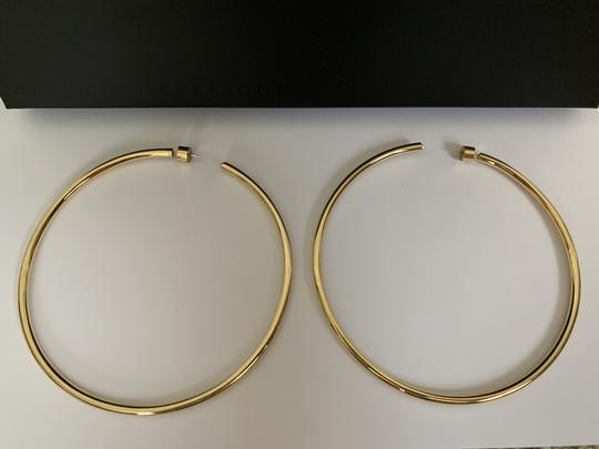 JENNIFER FISHER Jennifer Fisher Lilly Large Yellow Gold Plated Hoop Statement Earrings Image 5