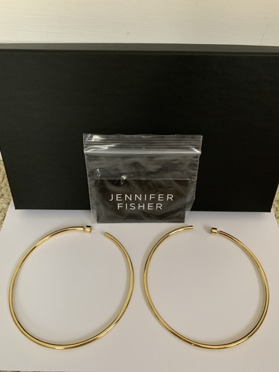 JENNIFER FISHER Jennifer Fisher Lilly Large Yellow Gold Plated Hoop Statement Earrings Image 6