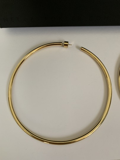 JENNIFER FISHER Jennifer Fisher Lilly Large Yellow Gold Plated Hoop Statement Earrings Image 7