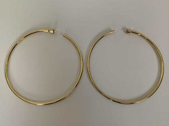 JENNIFER FISHER Jennifer Fisher Lilly Large Yellow Gold Plated Hoop Statement Earrings Image 8