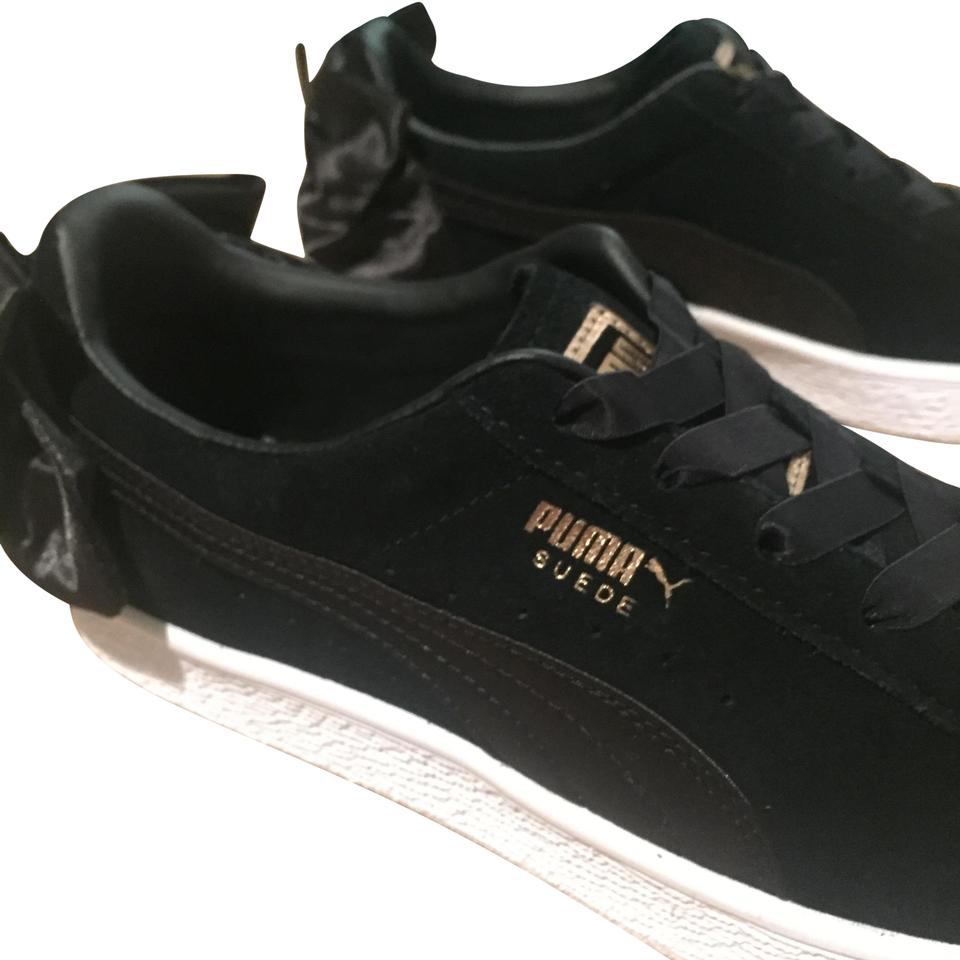 low cost 95c99 8ff10 Black Suede Bow Sneakers