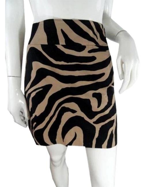 Item - Brown Black Animal Skirt Size 4 (S, 27)
