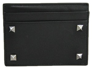 Valentino Valentino Garavani Lock Studs RW9P0523VH3 Leather Card Case Black