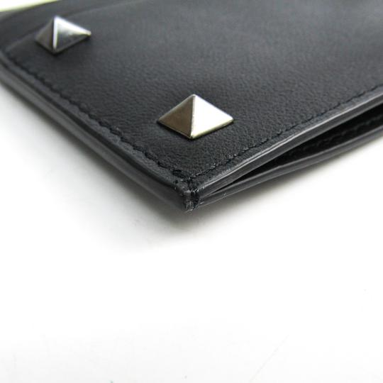 Valentino Valentino Garavani Lock Studs RW9P0523VH3 Leather Card Case Black Image 3