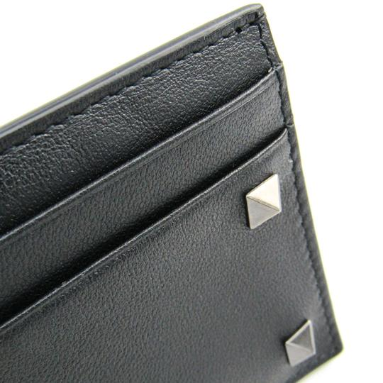 Valentino Valentino Garavani Lock Studs RW9P0523VH3 Leather Card Case Black Image 4