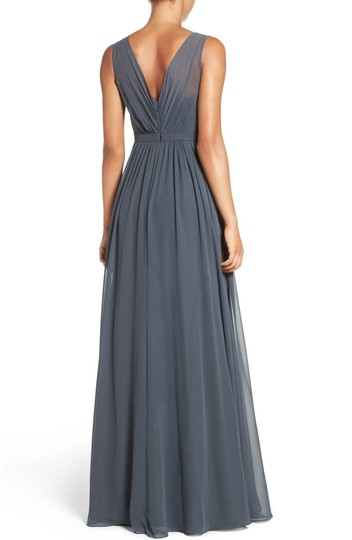 Jenny Yoo Storm (Dark Grey) Polyester Chiffon Vivienne Pleated Gown Formal Bridesmaid/Mob Dress Size 14 (L) Image 1