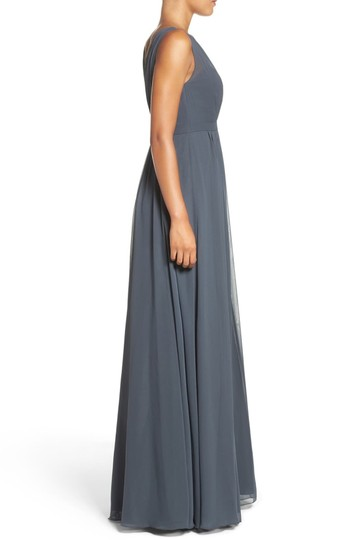 Jenny Yoo Storm (Dark Grey) Polyester Chiffon Vivienne Pleated Gown Formal Bridesmaid/Mob Dress Size 14 (L) Image 2