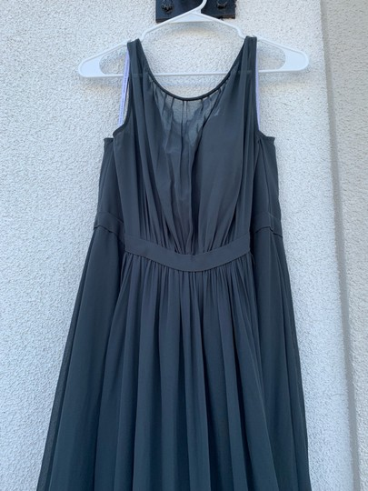 Jenny Yoo Storm (Dark Grey) Polyester Chiffon Vivienne Pleated Gown Formal Bridesmaid/Mob Dress Size 14 (L) Image 5