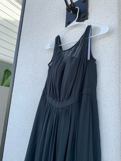 Jenny Yoo Storm (Dark Grey) Polyester Chiffon Vivienne Pleated Gown Formal Bridesmaid/Mob Dress Size 14 (L) Image 6