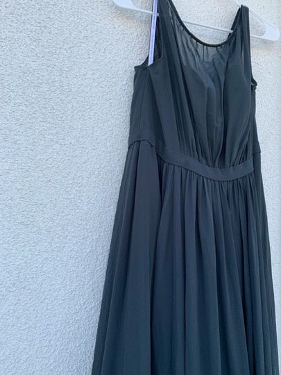 Jenny Yoo Storm (Dark Grey) Polyester Chiffon Vivienne Pleated Gown Formal Bridesmaid/Mob Dress Size 14 (L) Image 7