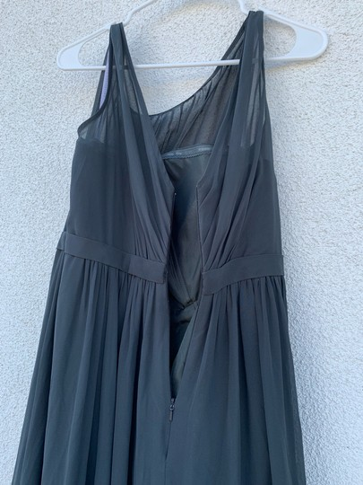 Jenny Yoo Storm (Dark Grey) Polyester Chiffon Vivienne Pleated Gown Formal Bridesmaid/Mob Dress Size 14 (L) Image 8