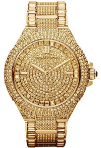 Michael Kors Michael Kors Women's Camille Gold Pave Dial Crystal Encrusted MK5720
