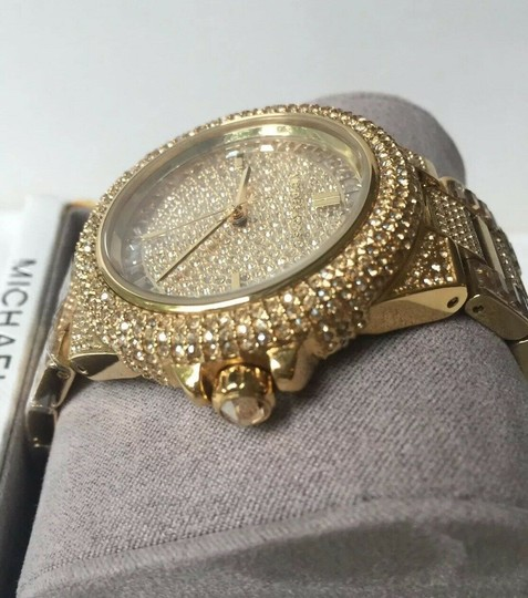 Michael Kors Michael Kors Women's Camille Gold Pave Dial Crystal Encrusted MK5720 Image 4